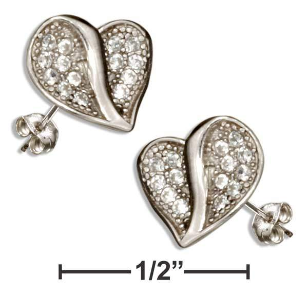 Mm778 Heart Shaped Cubic Zirconia Earrings Introduction