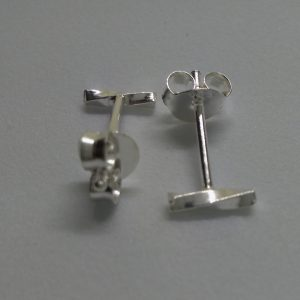 ZX703 Sliver Twisted Bar Earrings