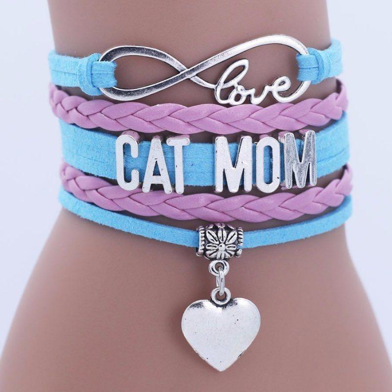 CB7665 Cat Fan Charm Bracelet